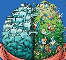 hemisphere droit et gauche cerveau